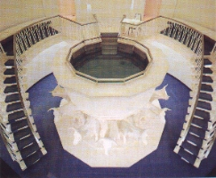 Baptistry of the Washington DC Temple