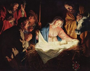 Adoration of the Shepherds- Gerard van Honthorst